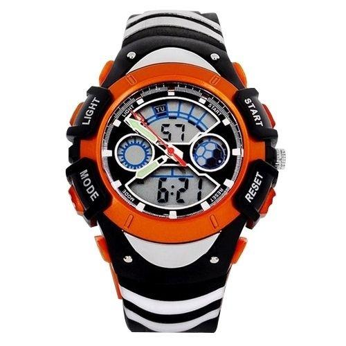 Relógio Masculino Skmei Anadigi  0922 Preto e Laranja