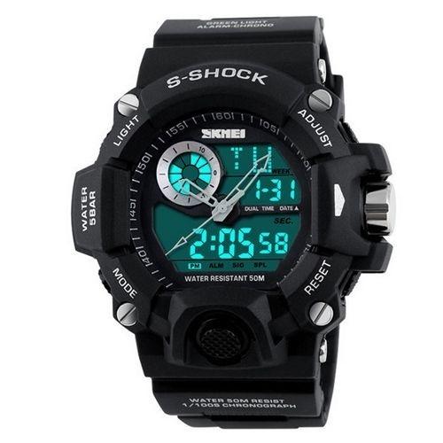 Relógio Masculino Skmei Anadigi 1053 Preto e Cinza