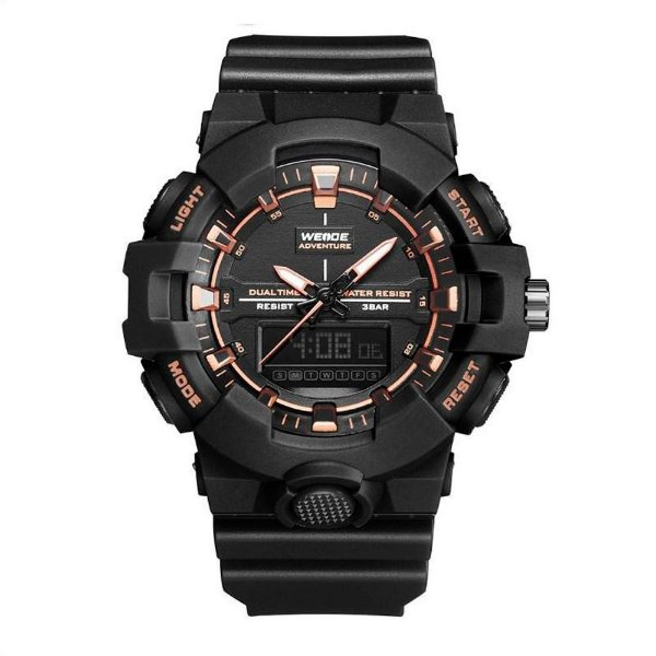 Relógio Masculino Weide AnaDigi WA3J8006 - Preto e Rosê