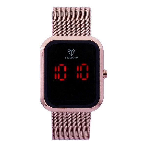 Relógio Unissex Tuguir Digital TG110 - Rosê