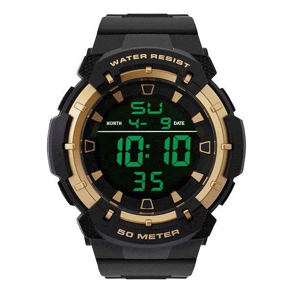 Relógio Masculino Tuguir Digital TG124 - Preto e Dourado