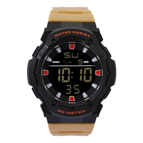 Relógio Masculino Tuguir Digital TG124 - Preto e Bege