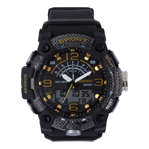 Relógio Masculino Weide AnaDigi WA3J9001 - Preto e Dourado