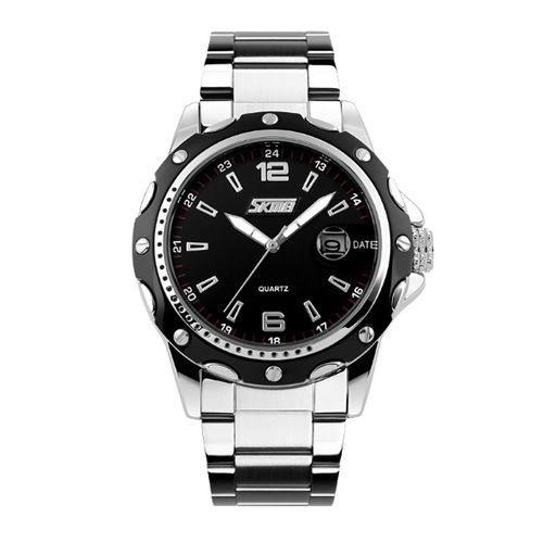 Relógio Masculino Skmei Analógico 0992 Prata e Preto