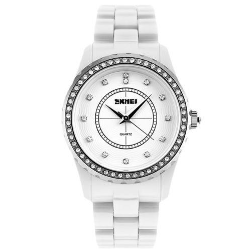 Relógio Feminino Skmei Analógico 1159-G Branco
