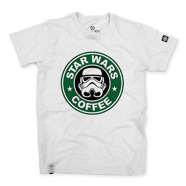 Camiseta Masculina Star Wars Coffee
