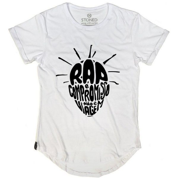 Camiseta Longline O Rap é Compromisso