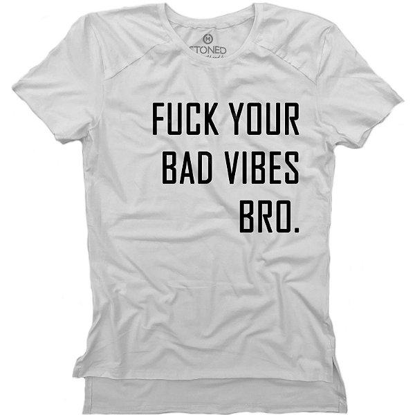 Camiseta Longline Gold Fuck Your Bad Vibes