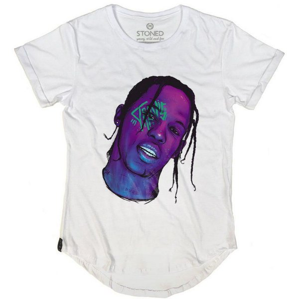 Camiseta Longline Travis Scott
