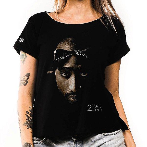 Camiseta Feminina Face 2Pac