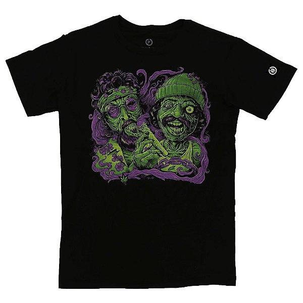 Camiseta Masculina Marijuana Zombie