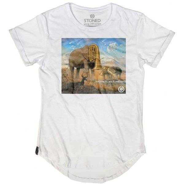 Camiseta Longline African Sonata