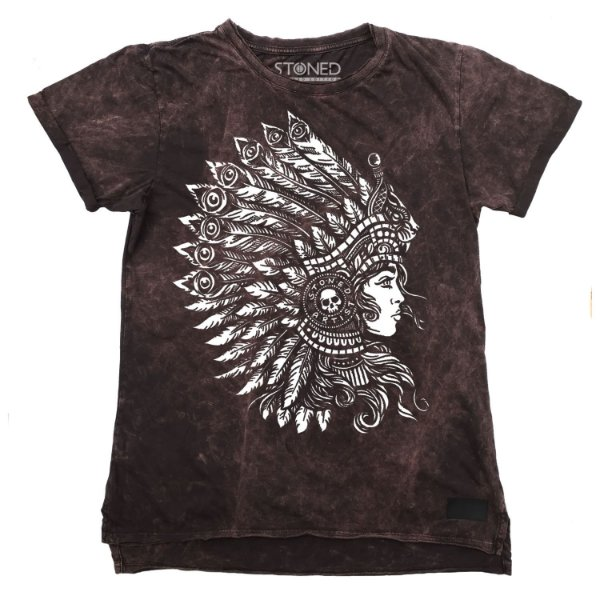 Camiseta Longline Estonada Headdress