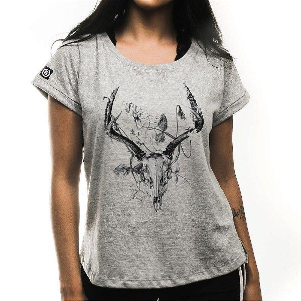 Camiseta Feminina Deer Skull