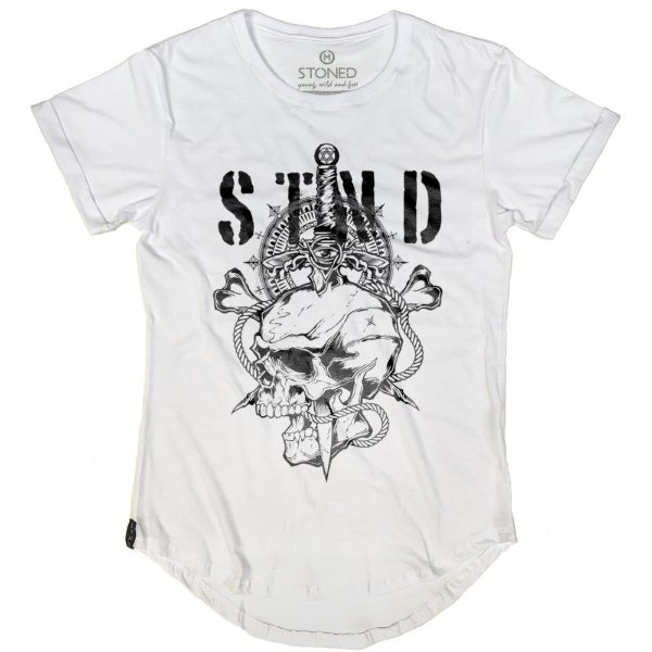 Camiseta Longline Sword Skull