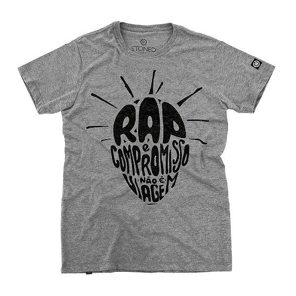 Camiseta Masculina O Rap é Compromisso