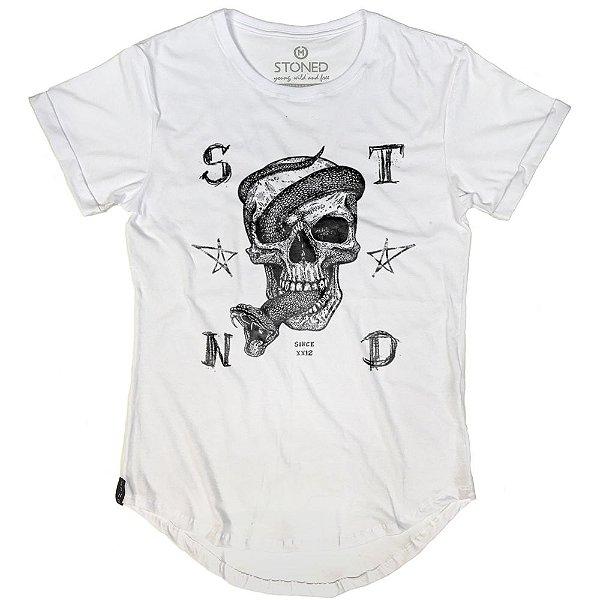 Camiseta Longline Snake Skull