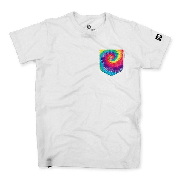 Camiseta Masculina Fake Pocket Tie Dye