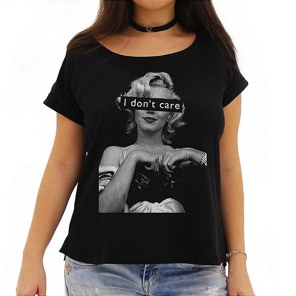 Camiseta Feminina I Don't Care