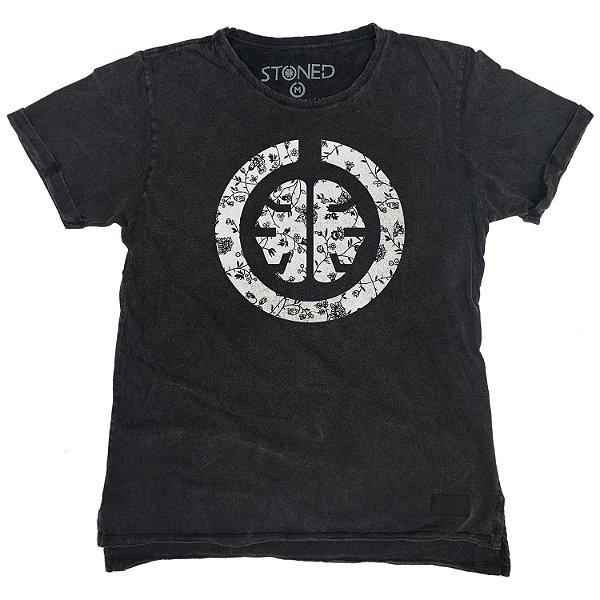 Camiseta Longline Estonada Signature White
