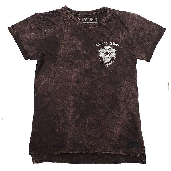 Camiseta Longline Estonada Wild
