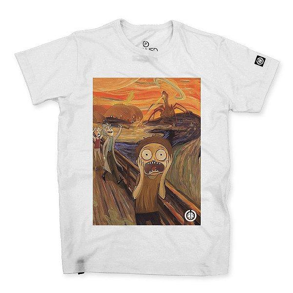Camiseta Masculina O Grito Morty