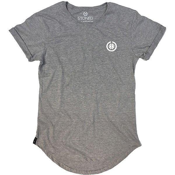 Camiseta Longline Basic Cinza