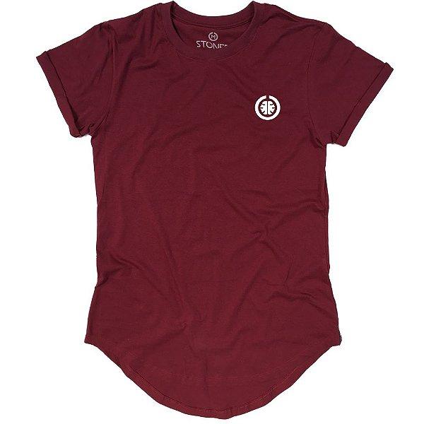 Camiseta Longline Basic Bordô