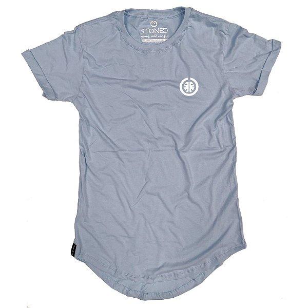 Camiseta Longline Basic Azul