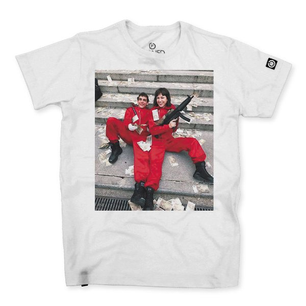 Camiseta Masculina La Casa de Papel Tokio and Rio