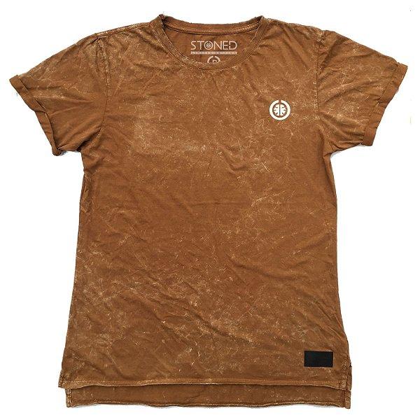Camiseta Longline Estonada Basic Areia