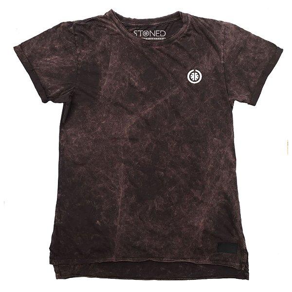 Camiseta Longline Estonada Basic Vinho