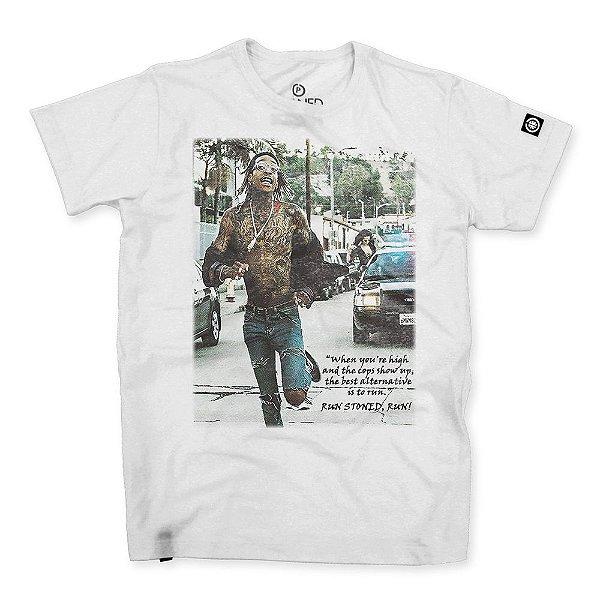 Camiseta Masculina Run, Stoned, Run!