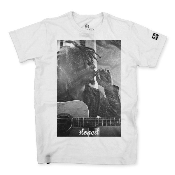 Camiseta Masculina Bob Marley Three