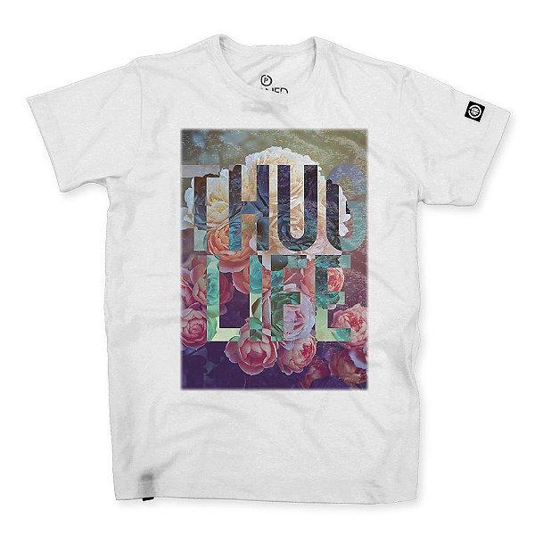 Camiseta Masculina Thug Life Flowers
