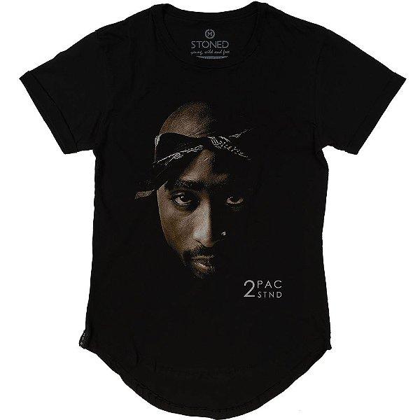 Camiseta Longline Face 2Pac