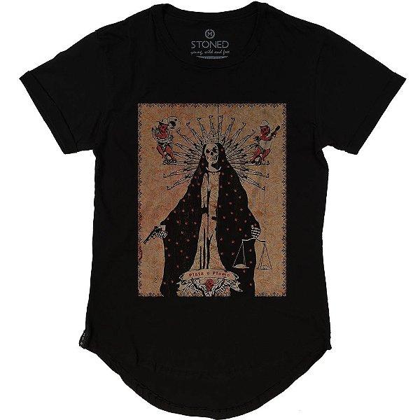 Camiseta Longline Plata o Plomo