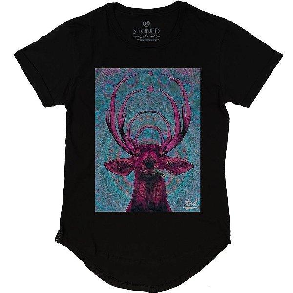 Camiseta Longline Stoned Elk