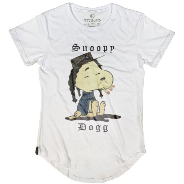 Camiseta Longline Snoppy Dogg