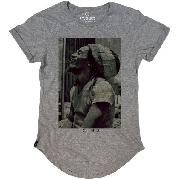 Camiseta Longline Bob Marley Five