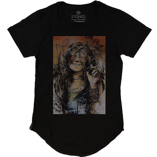 Camiseta Longline Janis Joplin