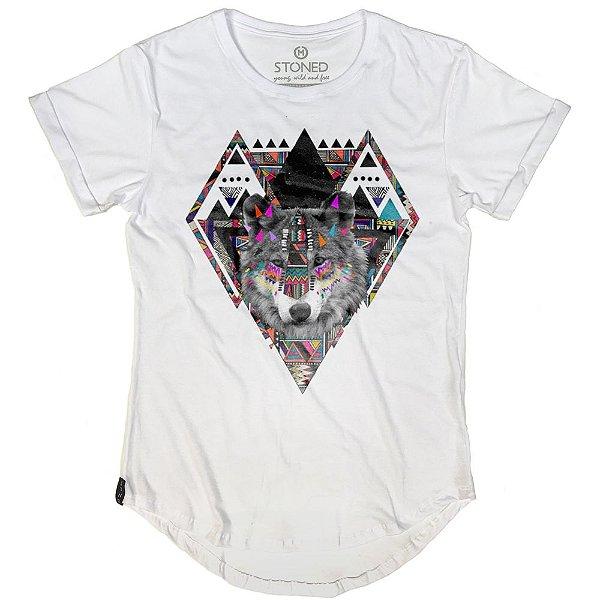 Camiseta Longline Color Wolf