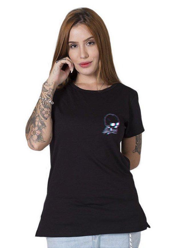 Camiseta Feminina 3D Skull