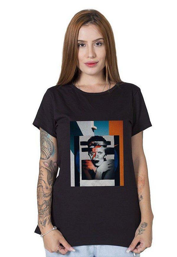 Camiseta Feminina Bowieart
