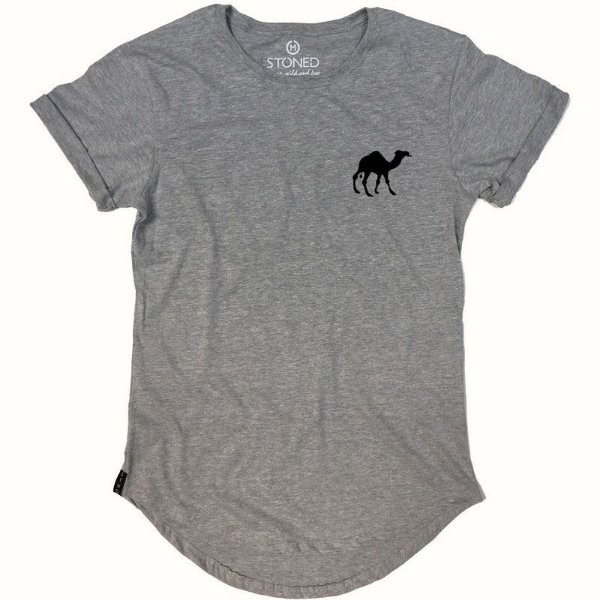 Camiseta Longline Camel