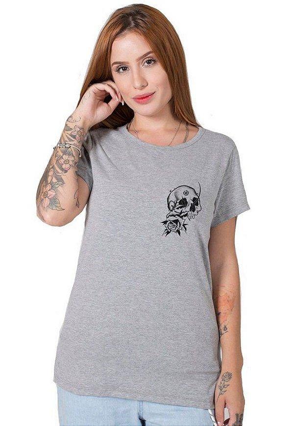 Camiseta Feminina Broken Skull