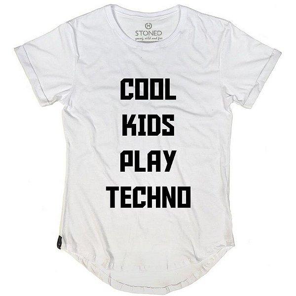 Camiseta Longline Cool Kids Play Techno