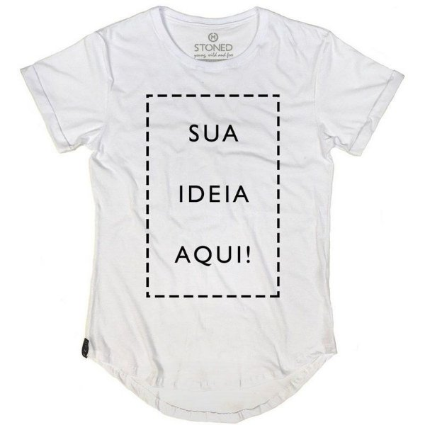 Camiseta Longline Escolha a Estampa