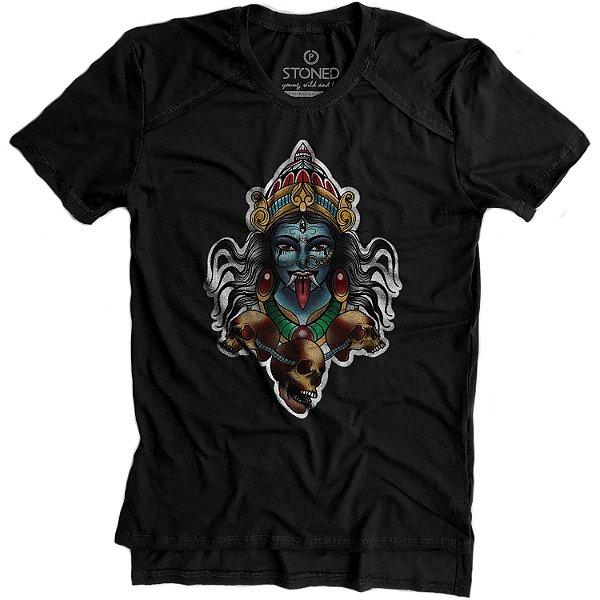 Camiseta Longline Gold Deusa Kali