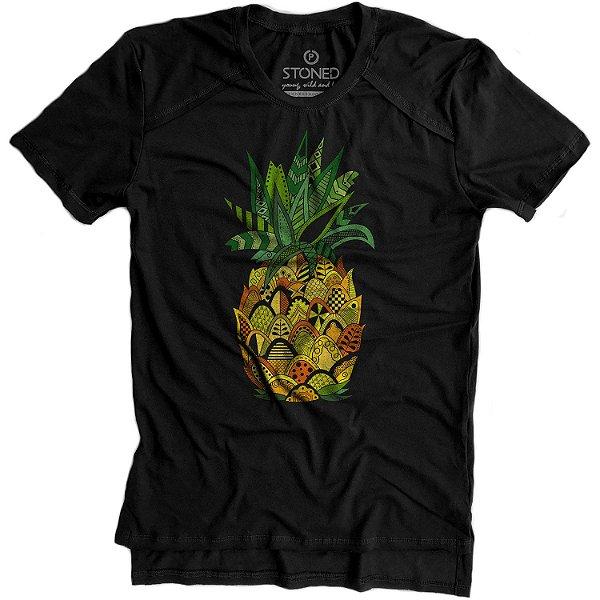 Camiseta Longline Gold Pineapple